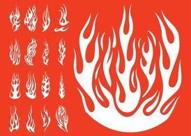 Flames Silhouettes Set