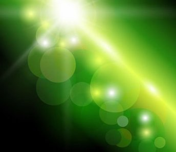 Green Background with Natural Bokeh Sunlight