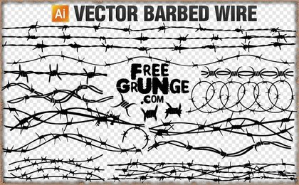 18 Vector barbed wire