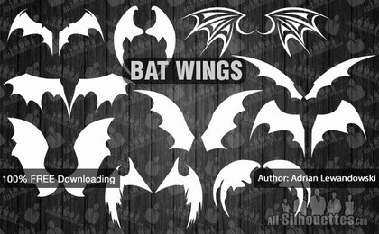 10 Vector bat wings