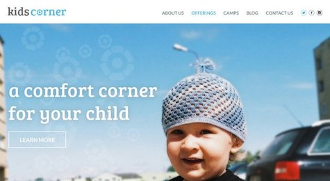 Kids Corner free PSD Template - Submitted by Rahul Joshi