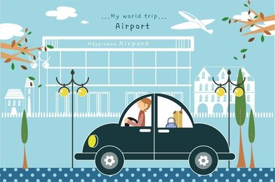 Travel Illustrator Vector Cute