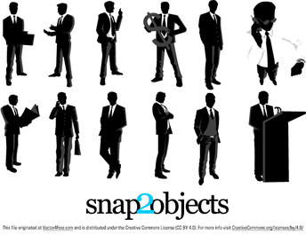 12 Free Vector Business Silhouettes
