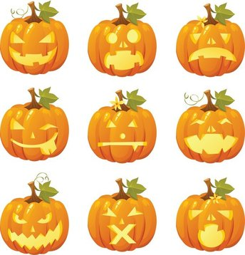 Free Vector Halloween Pumpkin Smileys