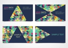 Free Trendy Triangle Business Card Templates