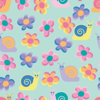 Lovely flowers, a continuous background of vector cattle cru