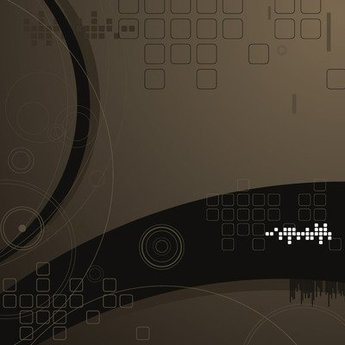 Abstract Dark Tech Background with Squares