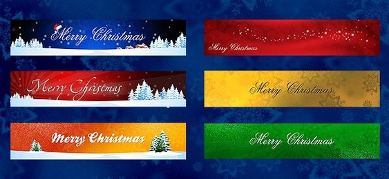 Holiday Banners PSD Set