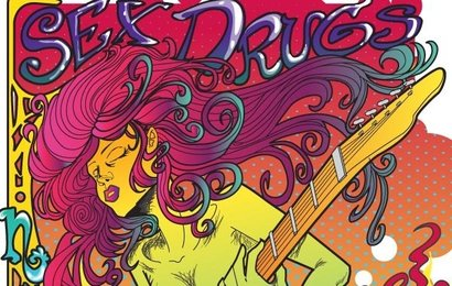 Psychedelic Rock Star Poster Vector Rock Psychedelic Star