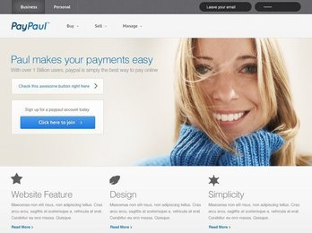 PayPaul Free PSD Template