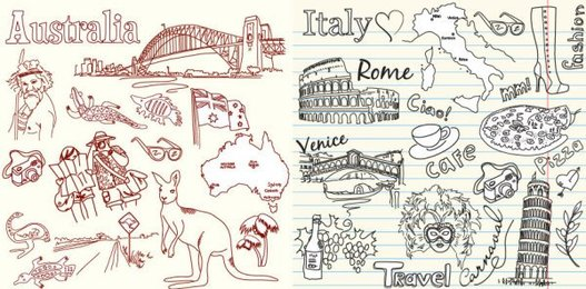 Australia and Italy, the theme