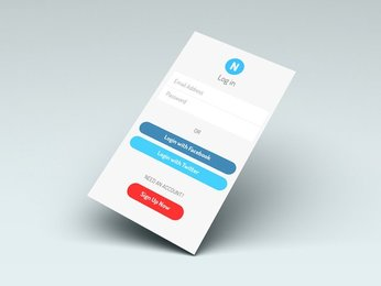 Notify Login App Screen