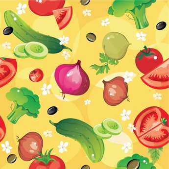 Cartoon vegetables 04