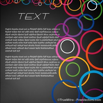 Colorful Rings Business Background