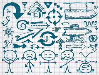 Hand Drawn Arrow Doodle Icons (Free)