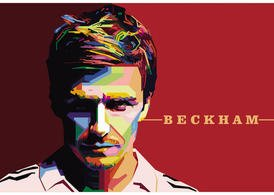 David Beckham Vector Portrait