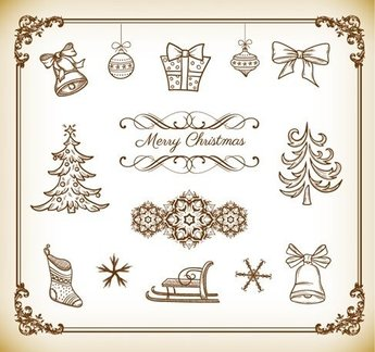 Vector Collection of Christmas Decoration Element
