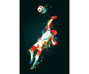 Abstract Football Goal Keeper Vector Art