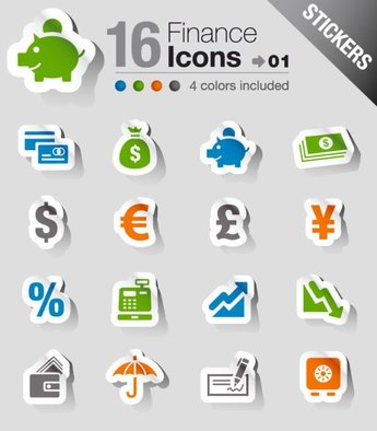 The beautifully financial icon labels
