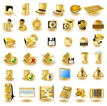gold common computer icon