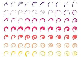 Colorful Swirls Set