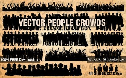 12 Vector people crowds