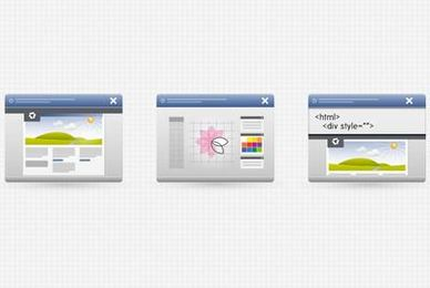 3 Desktop Program Interface Icons