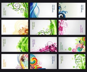 Colorful abstract business cards