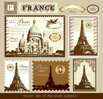 Paris Stamp Vector Holidays Office Transport