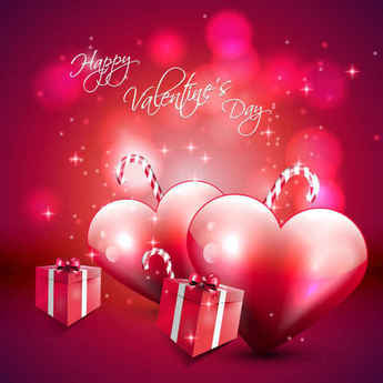 Valentine's Day Vector Red Background