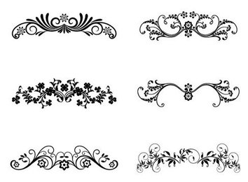 Vector Floral Ornamental Design Elements