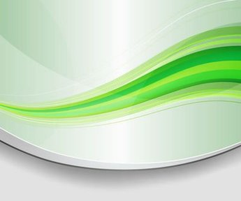 Abstract Green Waves Background with Curves