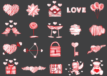 Free Love Vector Elements Pack