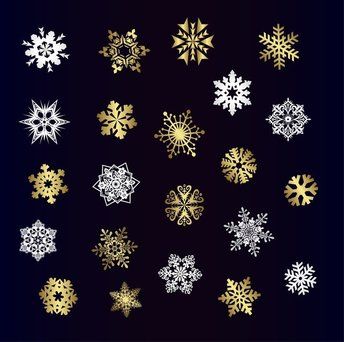 A Variety Of Beautiful Snowflakes