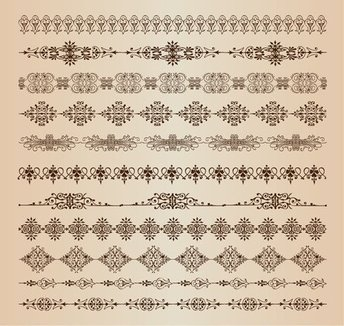 Vector Set of Border Decoration Elements