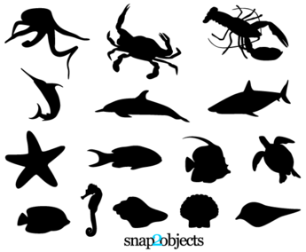 Free Sea Life Vector Silhouettes