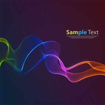 Abstract Rainbow Color Wave Background