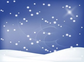 Winter Background with Snowy Landscape