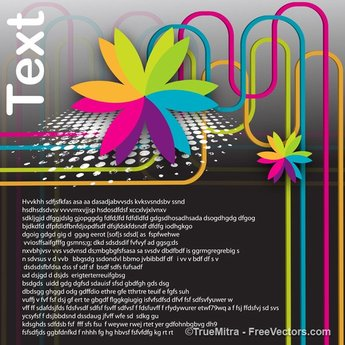 Floral Element Graphic Template