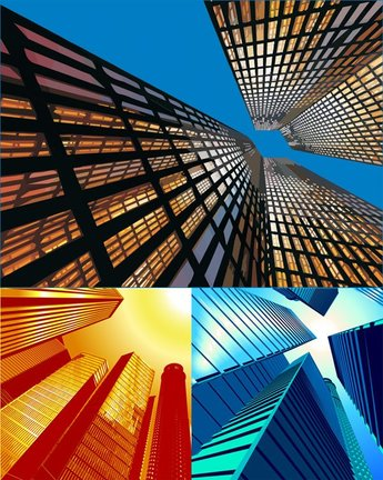 Look up high-rise buildings