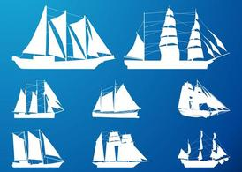 Ships Silhouettes Set