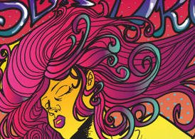 Psychedelic Rock Star Poster