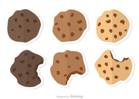 Delicious Chocolate Chip Cookies Vectors