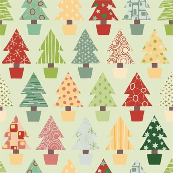Abstract Christmas Tree Seamless Background