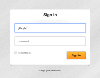 Clean Paper Login Form