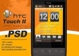 HTC Touch 2 Smartphone .PSD