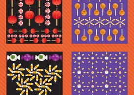 Halloween Vector Pattern Pack