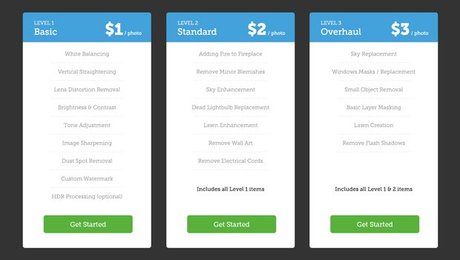 Price Table (PSD)