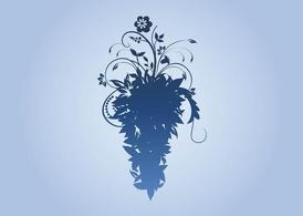Vector Floral Silhouette