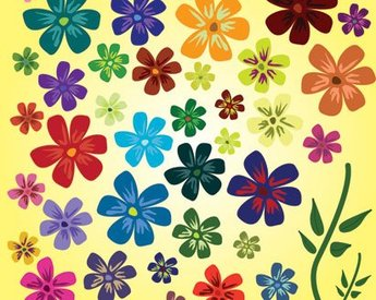 Cute Flowers Vector Cute Flowers